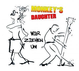 Monkeys Daughter - Wir ziehen um - CD-Cover